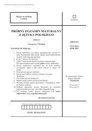 próbny egzamin maturalny z języka polskiego - Sqlmedia.pl
