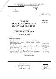 próbny egzamin maturalny z języka polskiego poziom ... - Sqlmedia.pl