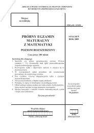 próbny egzamin maturalny z matematyki poziom ... - Sqlmedia.pl