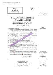 egzamin maturalny z matematyki poziom podstawowy - Sqlmedia.pl