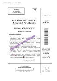 egzamin maturalny z języka polskiego poziom ... - Sqlmedia.pl