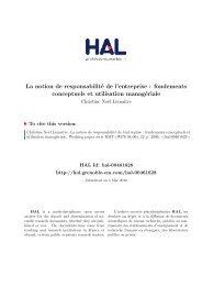 La notion de responsabilité de l'entreprise - Grenoble EM :: Accueil