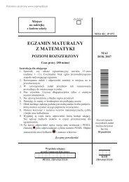 egzamin maturalny z matematyki poziom rozszerzony - Sqlmedia.pl