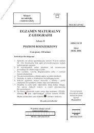 EGZAMIN MATURALNY Z GEOGRAFII - Sqlmedia.pl