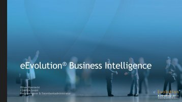 eEvolution® Business Intelligence - eEvolution® Konferenz