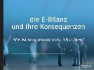 Die elektronische Bilanz (E-Bilanz)