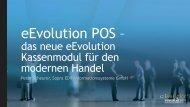 das neue eEvolution Kassenmodul für den modernen Handel