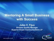 Mentoring A Small Business with Success - TL 9000
