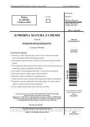 II PRÓBNA MATURA Z CHEMII - Sqlmedia.pl