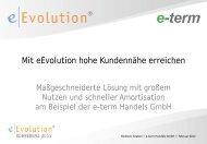 Mit eEvolution hohe Kundennähe erreichen - eEvolution® Konferenz