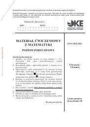 materiał ćwiczeniowy z matematyki poziom podstawowy - Sqlmedia.pl