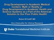 Academic Health Science Systems - DTMI - Duke University