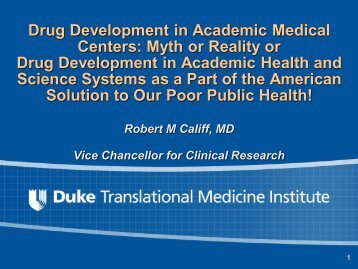 Academic Health Science Systems - DTMI - Duke University