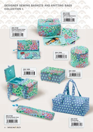designer sewing baskets and knitting bags collection i. - Coats Crafts