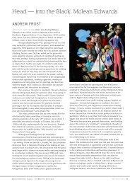 Andrew Frost article from Art Monthly Australia ... - Karen Woodbury