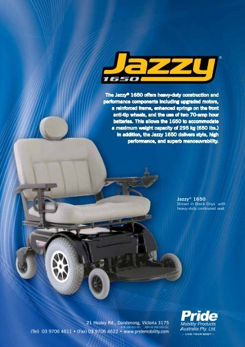 Jazzy 1650 Brochure - Pride Mobility Products