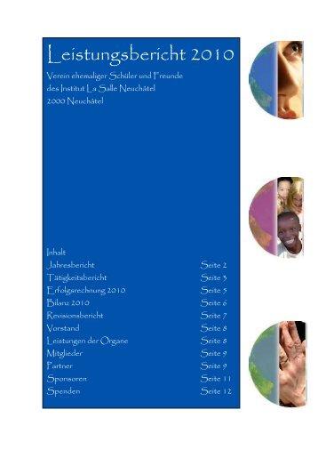 Leistungsbericht 2010 - Verein ehemaliger Schüler und Freunde ...