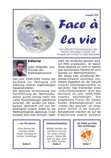 Face à la vie 2005 - Verein ehemaliger Schüler und Freunde des ...