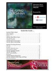 Education Guide The Flying Dutchman by ... - Edmonton Opera
