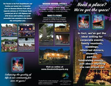 facility rental brochure - Theatre in the Park
