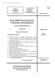 EGZAMIN MATURALNY Z JĘZYKA POLSKIEGO - Sqlmedia.pl