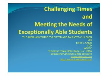Challenging Times and Meeting the Needs of Exceptionally Able ...