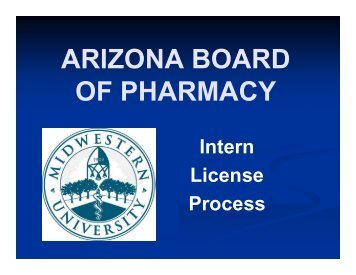 ARIZONA BOARD OF PHARMACY -  AZ Board of Pharmacy