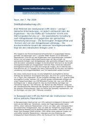 Deutsch - Teil 2 - Swiss Institutional Survey