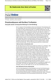 NZZ Online - Swiss Institutional Survey