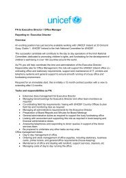 PA to Executive Director / Office Manager ... - UNICEF Ireland
