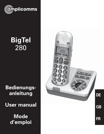 T458 BigTel 280 - Action On Hearing Loss
