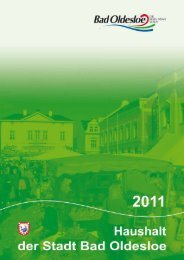Haushaltsplan mit Haushaltssatzung 2011 - Bad Oldesloe