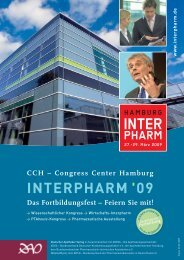 Congress Center Hamburg INTERPHARM 09 Das Fortbildungsfest