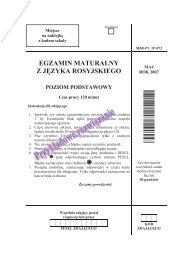 egzamin maturalny z języka rosyjskiego poziom ... - Sqlmedia.pl
