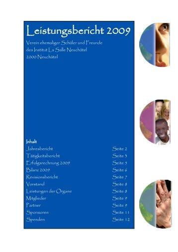 Leistungsbericht 2009 - Verein ehemaliger Schüler und Freunde ...