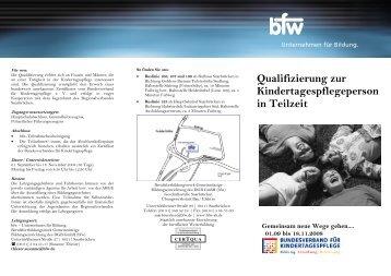 Qualifizierung zur Kindertagespflegeperson in Teilzeit