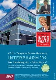 Congress Center Hamburg INTERPHARM 09 Das Fortbildungsfest