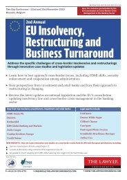 EU Insolvency, Restructuring and Business Turnaround
