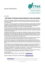 press statement - Turnaround Management Association (UK)