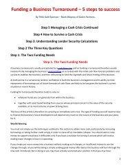Funding a Business Turnaround - Turnaround Management ...