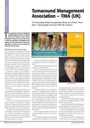 Business Money - Turnaround Management Association (UK)