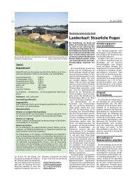 Landverkauf: Steuerliche Fragen - wetreu