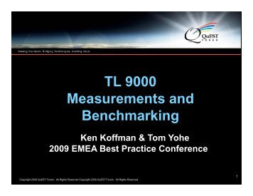 TL 9000 & Benchmarking - EMEA BPC - June 2009 - 12-Jun-09.pptx