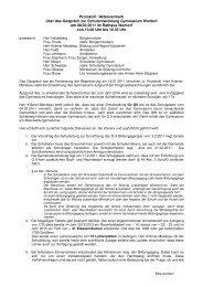 Protokoll / Aktenvermerk über das Gespräch zur Schulentwicklung ...