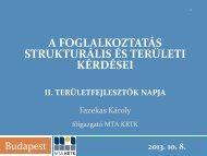 A foglalkoztatás strukturális és területi kérdései