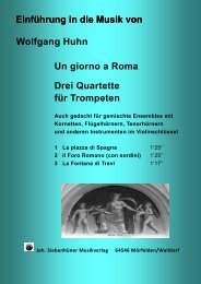 Wolfgang Huhn Un giorno a Roma Drei Quartette für Trompeten ...