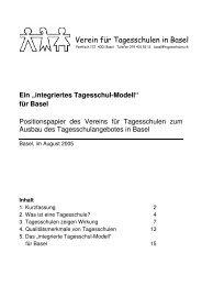 Verein für Tagesschulen in Basel - Bildung und Betreuung