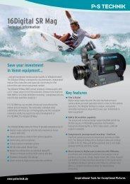 16Digital SR Mag Technical Information - P+S TECHNIK