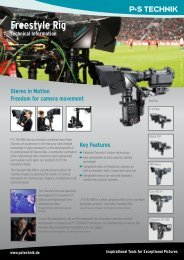 Freestyle Rig Technical Information - P+S TECHNIK