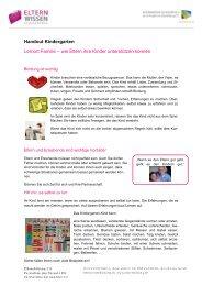 Handout Kindergarten Lernort Familie – wie Eltern ihre Kin ...
